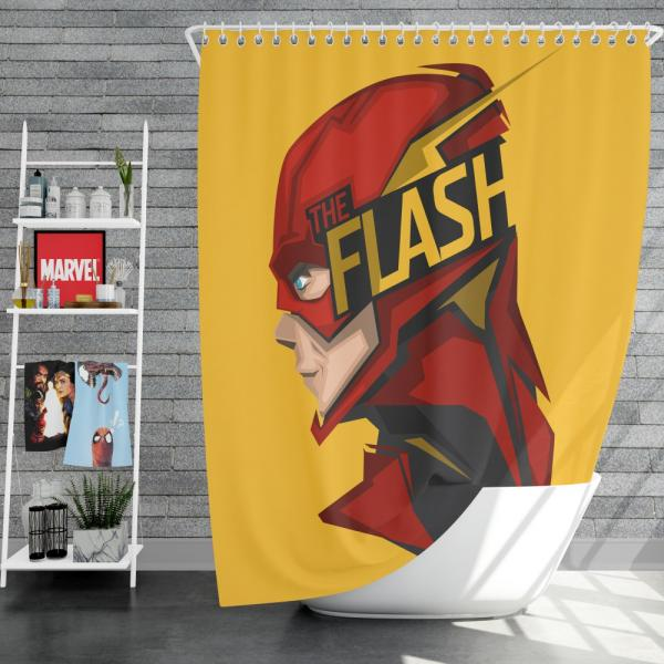 The Flash Rebirth Superhero DC Shower Curtain