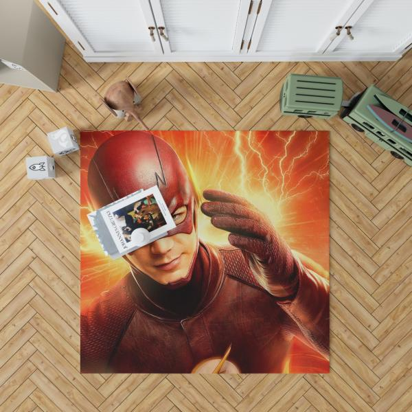 The Flash Season 2 Grant Gustin Barry Allen Bedroom Living Room Floor Carpet Rug