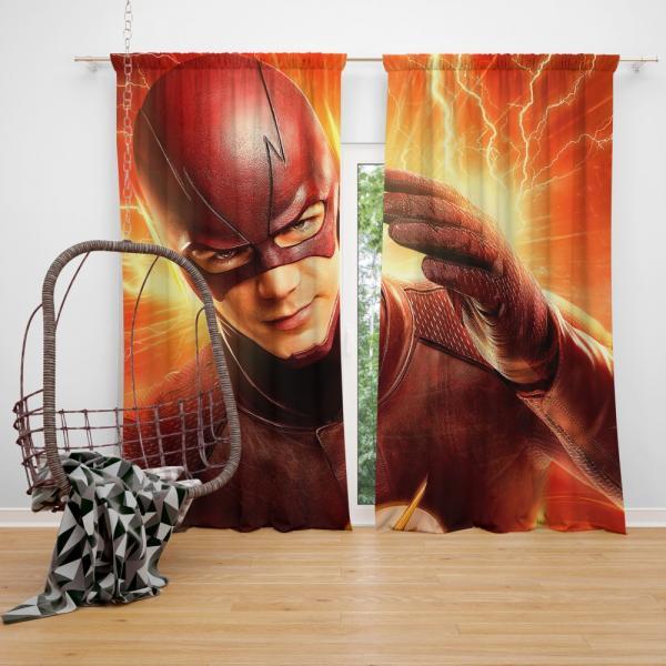 The Flash Season 2 Grant Gustin Barry Allen Bedroom Window Curtain
