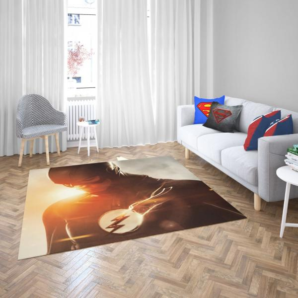 The Flash TV Show Superhero Flash Grant Gustin Barry Allen Bedroom Living Room Floor Carpet Rug