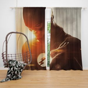 The Flash TV Show Superhero Flash Grant Gustin Barry Allen Bedroom Window Curtain
