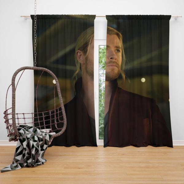 Thor Avengers Age of Ultron Movie The Avengers Chris Hemsworth Bedroom Window Curtain