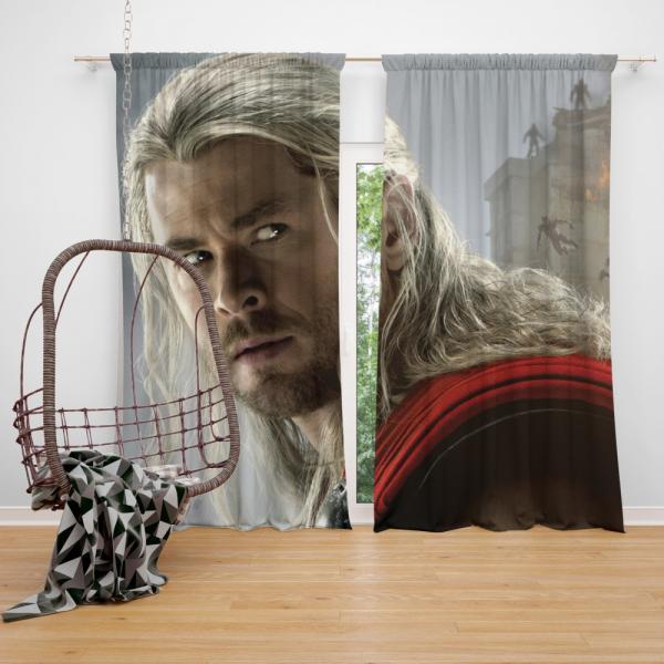 Thor Marvel Avengers Age of Ultron Chris Hemsworth Bedroom Window Curtain