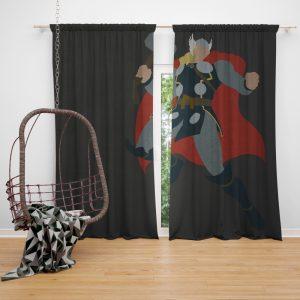 Thor Marvel Avengers Comics Bedroom Window Curtain