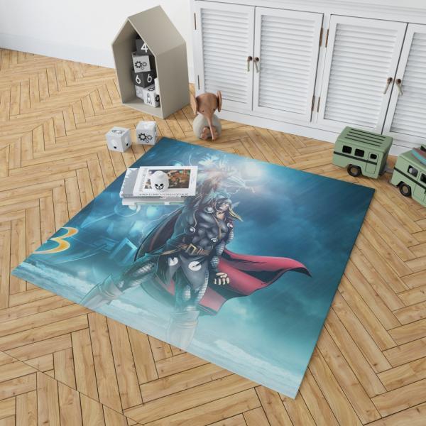 Thor Marvel vs Capcom 3 Fate of Two Worlds Video Game Bedroom Living Room Floor Carpet Rug