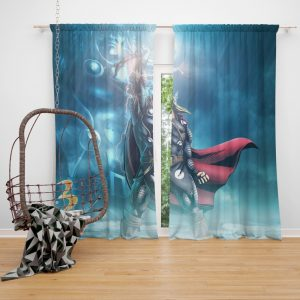 Thor Marvel vs Capcom 3 Fate of Two Worlds Video Game Bedroom Window Curtain