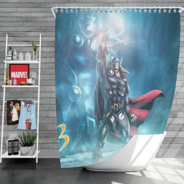 Thor Marvel vs Capcom 3 Fate of Two Worlds Video Game Shower Curtain