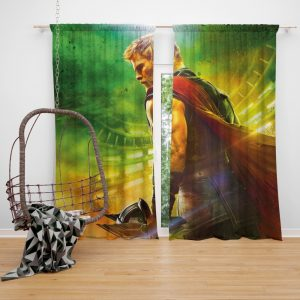 Thor Ragnarok God Squad Chris Hemsworth Bedroom Window Curtain