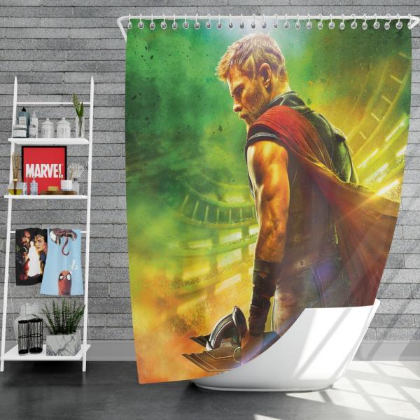 Thor Ragnarok God Squad Chris Hemsworth Shower Curtain