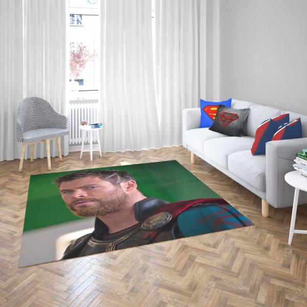 Thor Ragnarok Movie Avengers Unity Squad Chris Hemsworth Bedroom Living Room Floor Carpet Rug