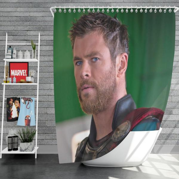 Thor Ragnarok Movie Avengers Unity Squad Chris Hemsworth Shower Curtain