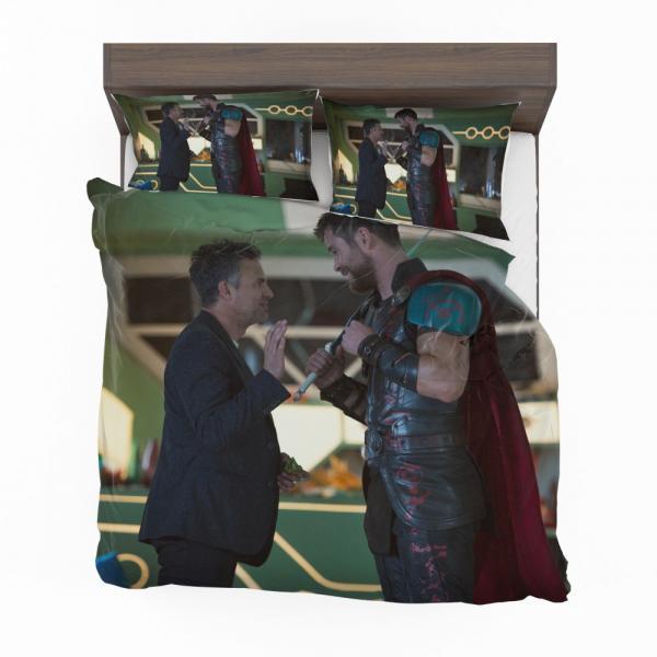 Thor Ragnarok Movie Mark Ruffalo Bruce Banner Chris Hemsworth Bedding Set