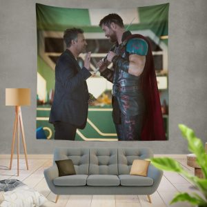 Thor Ragnarok Movie Mark Ruffalo Bruce Banner Chris Hemsworth Wall Hanging Tapestry