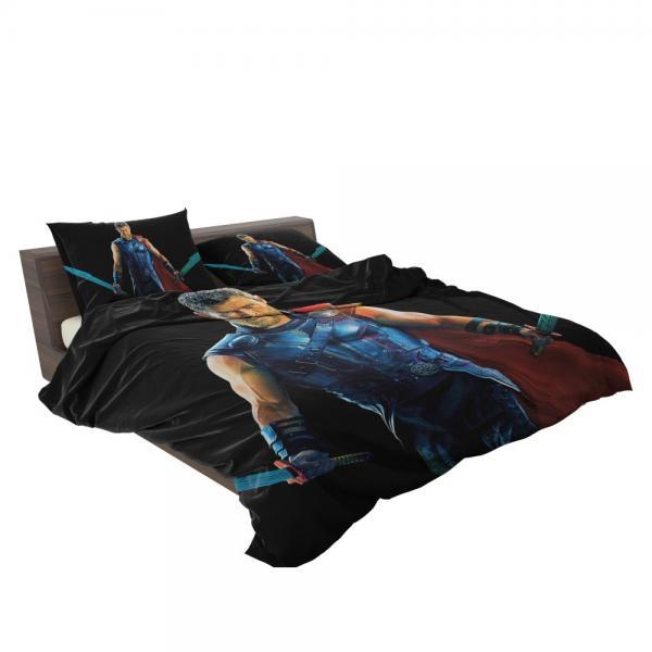 Thor Ragnarok Warriors Three Chris Hemsworth Bedding Set