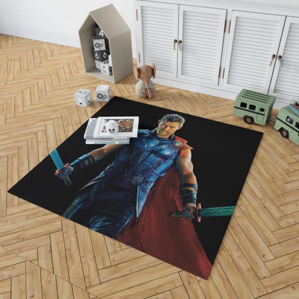 Thor Ragnarok Warriors Three Chris Hemsworth Bedroom Living Room Floor Carpet Rug