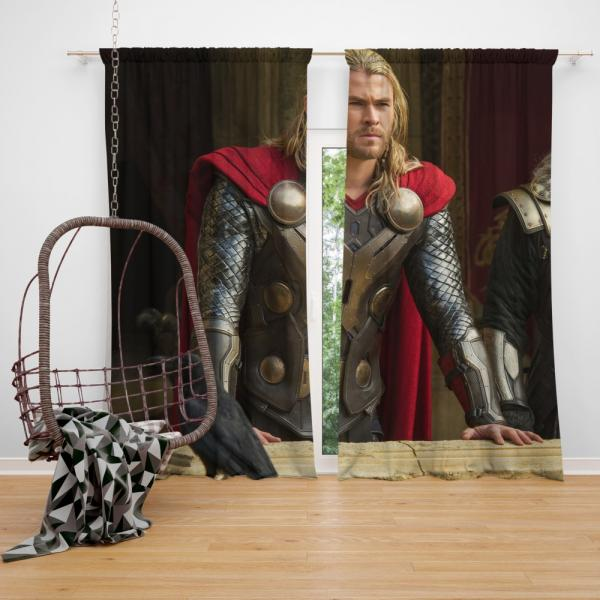 Thor The Dark World Marvel MCU Movie Bedroom Window Curtain