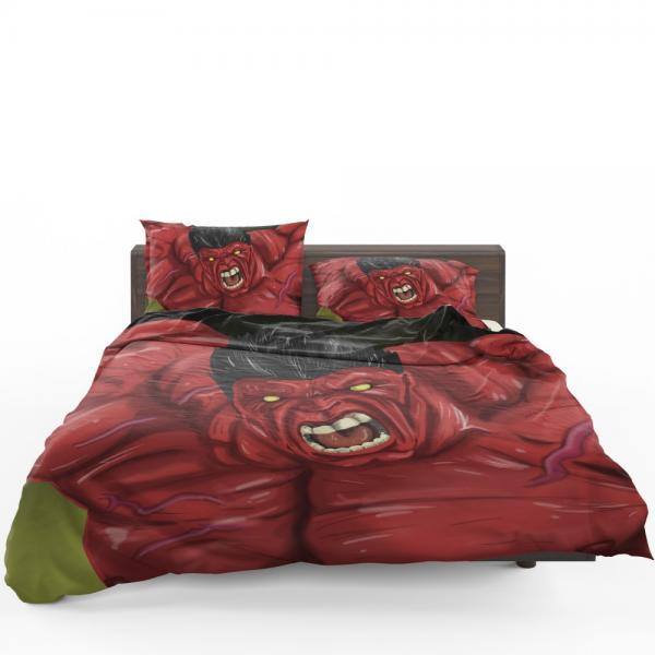 Thunderbolt Ross Red Hulk Marvel Comics Bedding Set