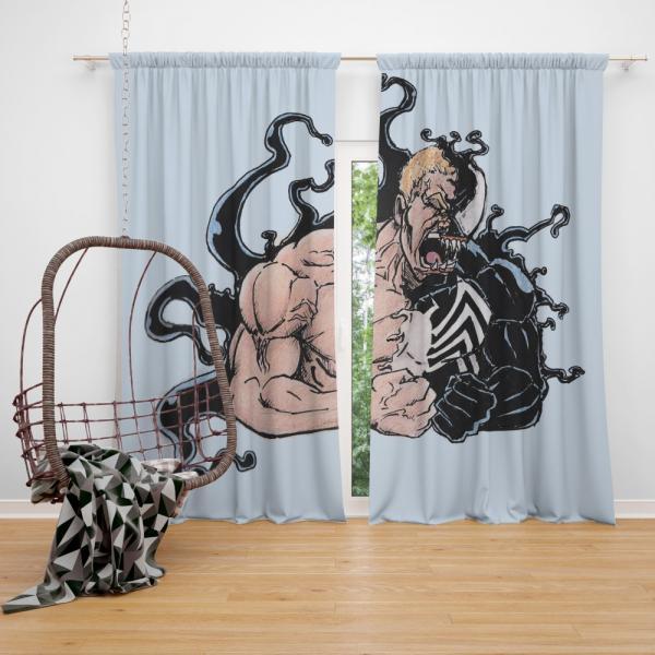 Venom Comics Agents of Cosmos Bedroom Window Curtain