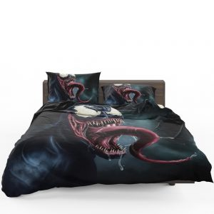 Venom Comics Creepy Dark Scary Face Dark Avengers Bedding Set