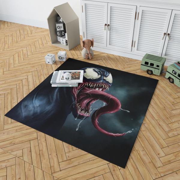 Venom Comics Creepy Dark Scary Face Dark Avengers Bedroom Living Room Floor Carpet Rug