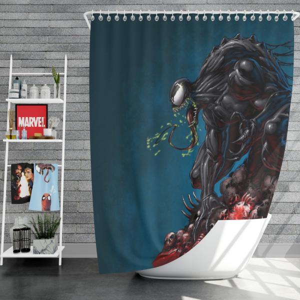 Venom Comics New Warriors Marvel Shower Curtain