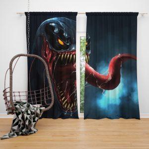 Venom Comics Sinister Six Marvel Bedroom Window Curtain