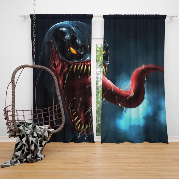 Venom Comics Sinister Six Marvel Bedroom Window Curtain