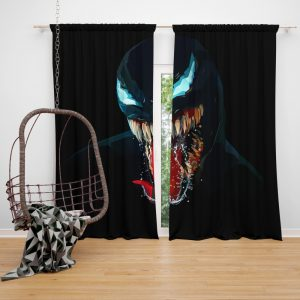 Venom Comics Symbiote Imperium Marvel Bedroom Window Curtain