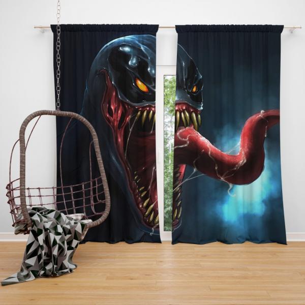 Venom Comics The Alien Costume Bedroom Window Curtain