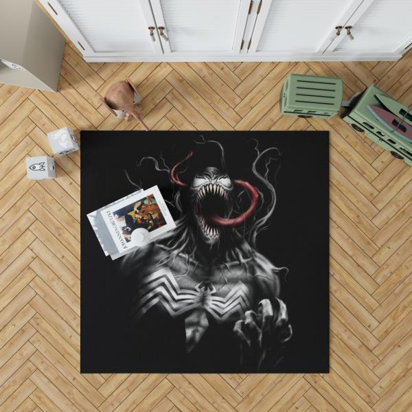 Venom Comics X-Men Blue Marvel Bedroom Living Room Floor Carpet Rug