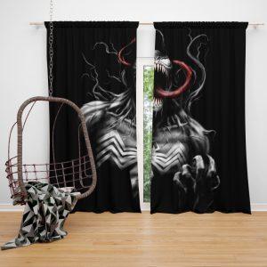 Venom Comics X-Men Blue Marvel Bedroom Window Curtain