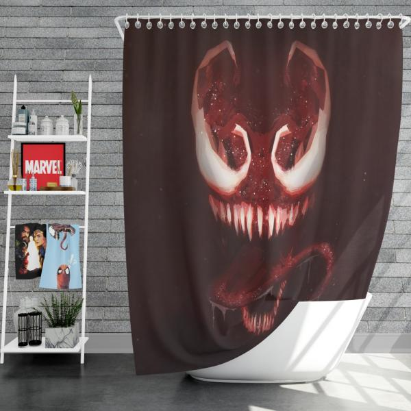 Venom Marvel Comics Dark Avengers MCU Shower Curtain