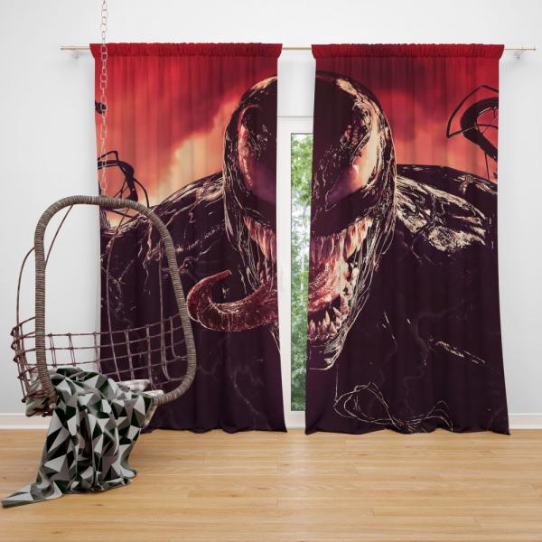 Venom Marvel Comics Kree Empire Bedroom Window Curtain