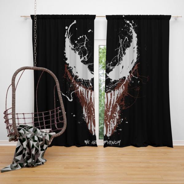 Venom Marvel Comics Super Hero Bedroom Window Curtain