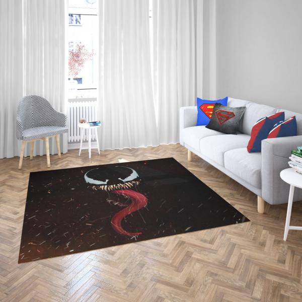 Venom Marvel Comics Symbiote Bedroom Living Room Floor Carpet Rug