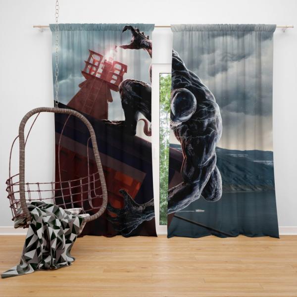 Venom Marvel Comics Thunderbolts Project Rebirth Bedroom Window Curtain