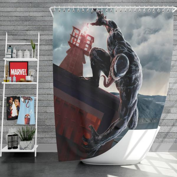 Venom Marvel Comics Thunderbolts Project Rebirth Shower Curtain