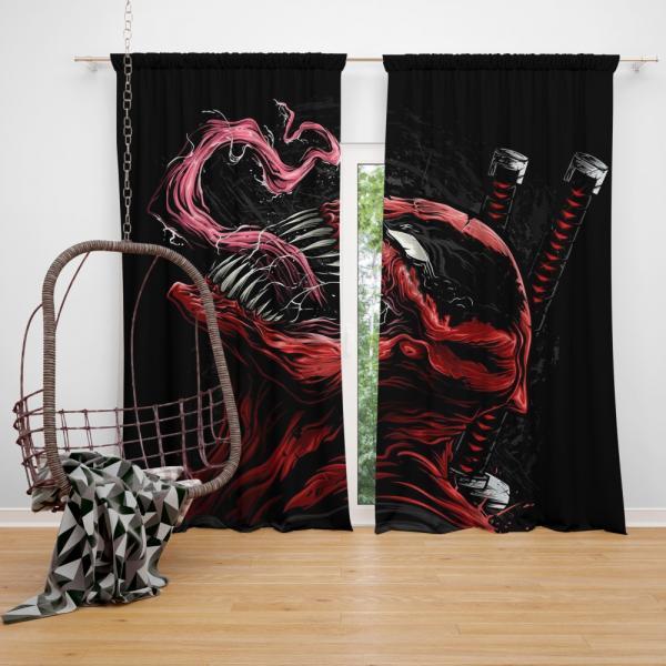 Venom Movie Agents of Cosmos Tom Hardy Bedroom Window Curtain