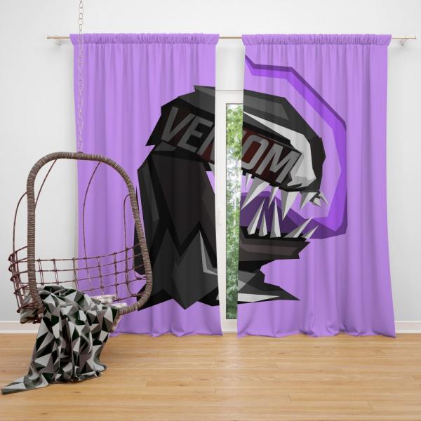 Venom Movie Eddie Brock Carlton Drake Antihero Symbiote Bedroom Window Curtain