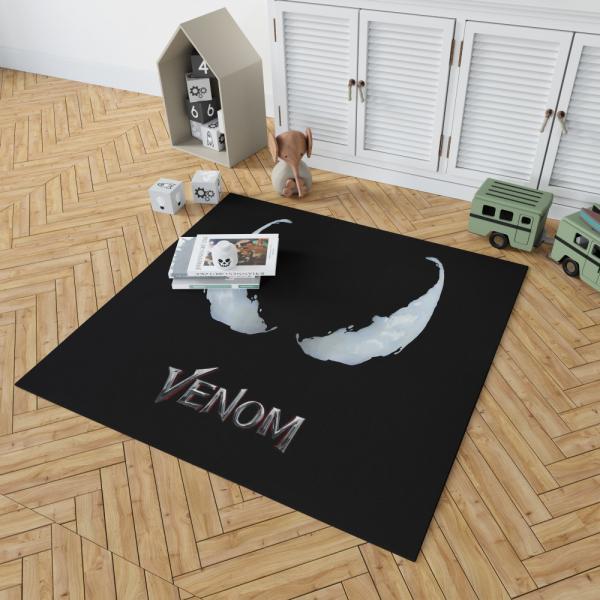 Venom Movie Marvel Project Rebirth Bedroom Living Room Floor Carpet Rug