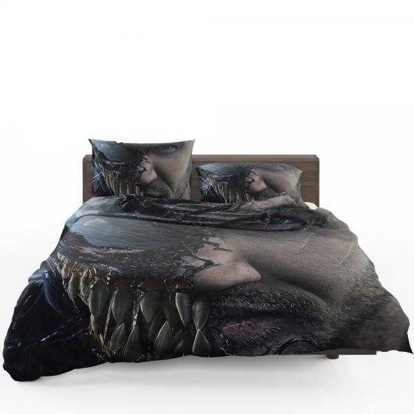 Venom Movie Tom Hardy Face Man Secret Avengers Bedding Set