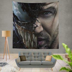 Venom Movie Tom Hardy Face Man Secret Avengers Wall Hanging Tapestry
