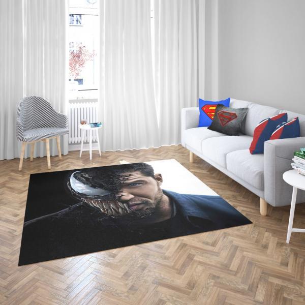 Venom Movie Venom-Army Marvel MCU Bedroom Living Room Floor Carpet Rug