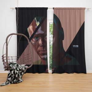 Vision Marvel American Comics Super Hero Bedroom Window Curtain