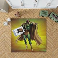 Vision Marvel Comics Avengers AI Bedroom Living Room Floor Carpet Rug