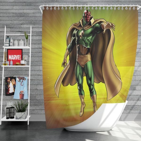 Vision Marvel Comics Avengers AI Shower Curtain