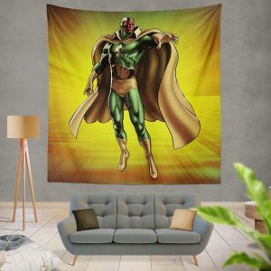 Vision Marvel Comics Avengers AI Wall Hanging Tapestry
