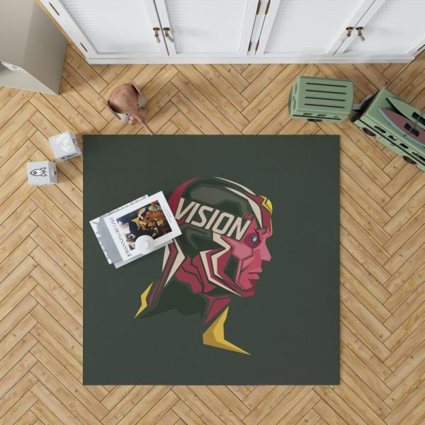 Vision Marvel Comics West Coast Avengers Bedroom Living Room Floor Carpet Rug