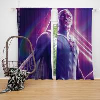 Vision in Marvel Avengers Infinity War Paul Bettany Bedroom Window Curtain