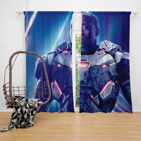 War Machine Avengers Infinity War Movie Bedroom Window Curtain